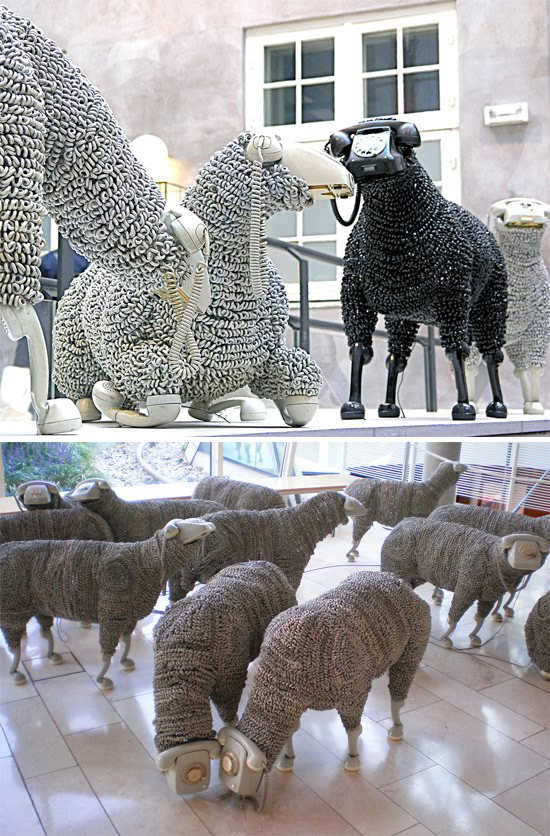 Sheep Sculptures by Jean Luc Cornec