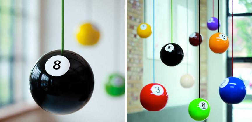 Billiard Ball Wooden Pendant Lights Collabcubed