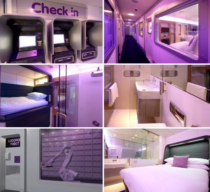 Yotel Pods and Hotel