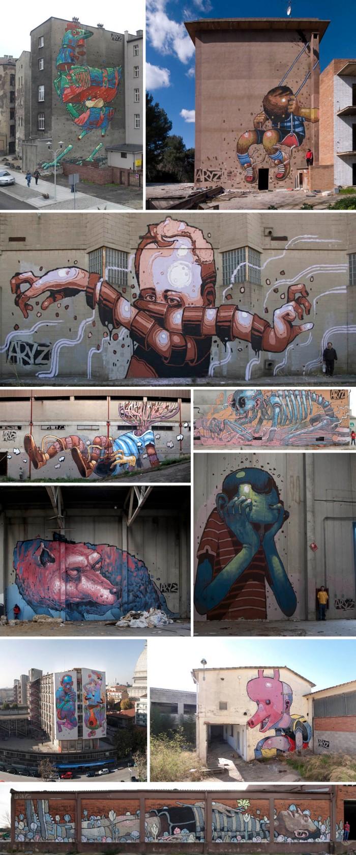 Aryz Street Art from Spain