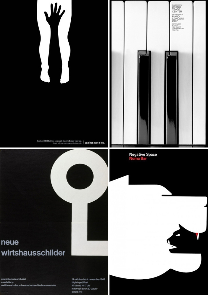 Graphic Design Black and White Posters