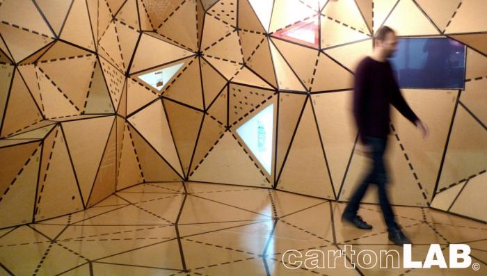 cardboard exhibit design and industrial design