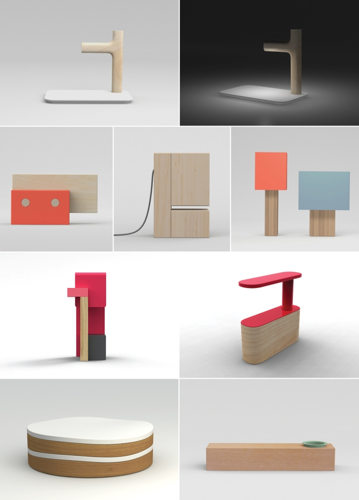 Industrial Design, Modern Table accessories and lamps