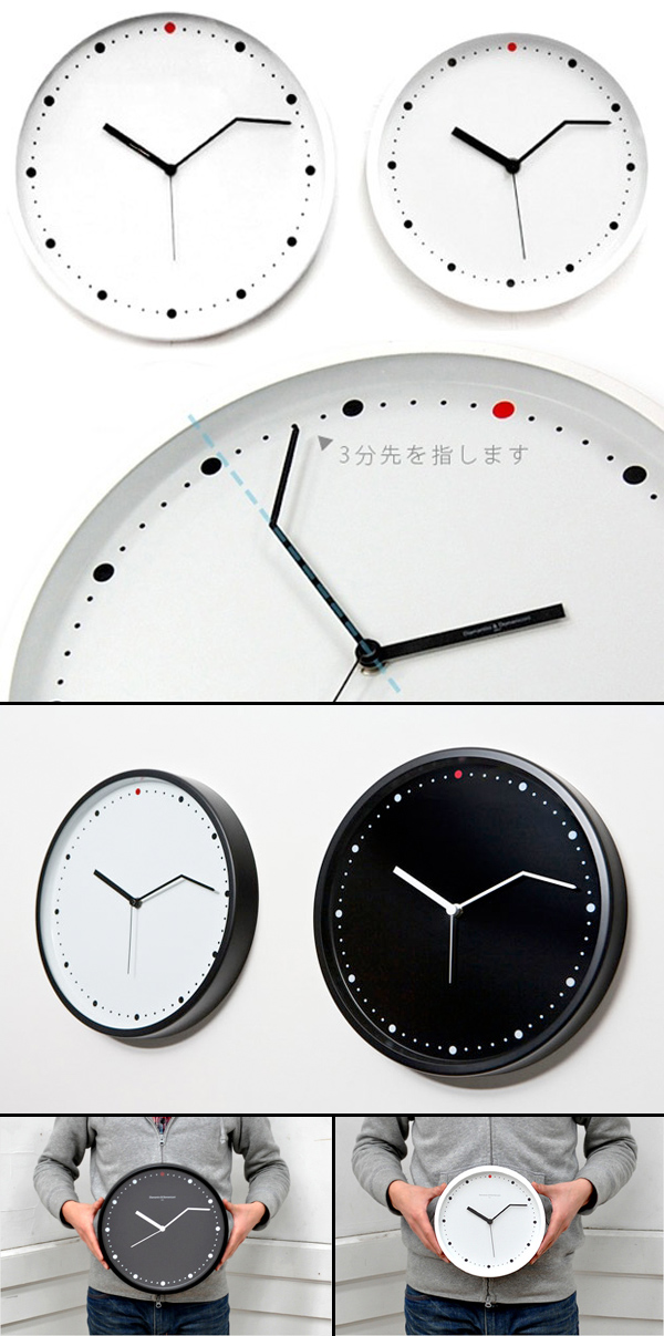 Clock Diamantini U0026 Domeniconi Collabcubed Humorous Clock Modern Fun On Time Pictures