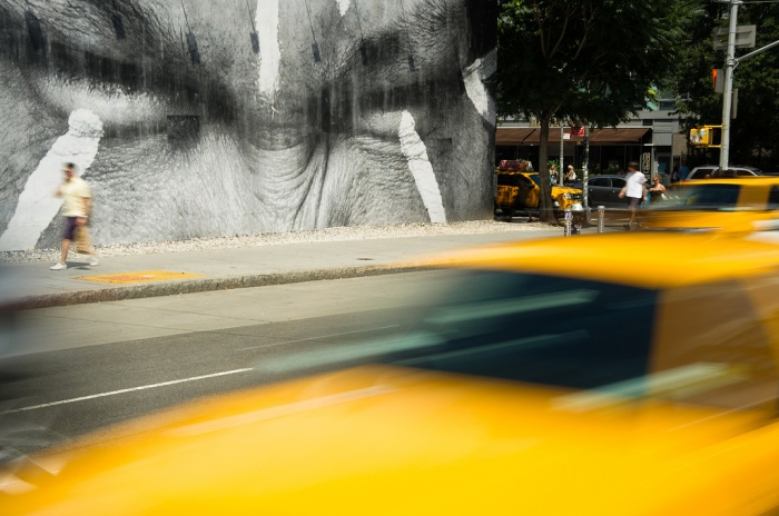 JR in NYC, Houston Street Mural, Street Art