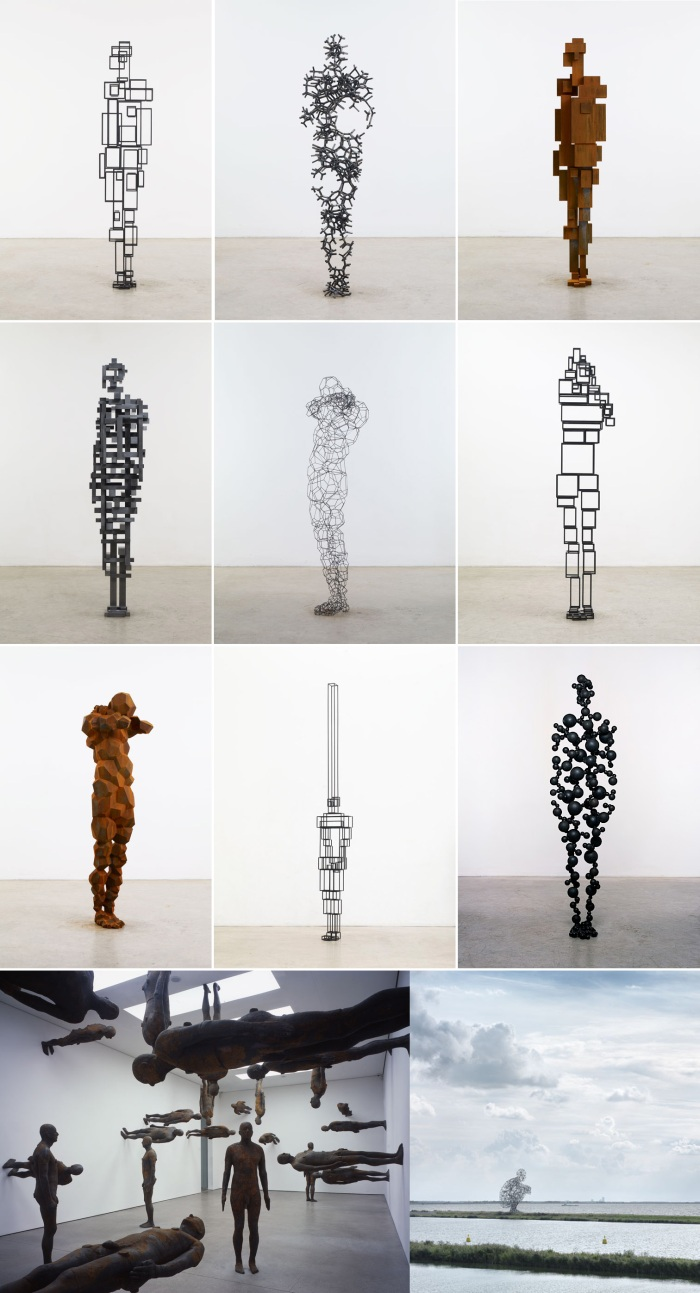 sculpture, bodies, cool installations, art, collabcubed