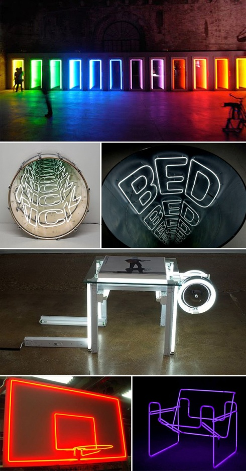 cool light sculptures, art installations, collabcubed, chilean art