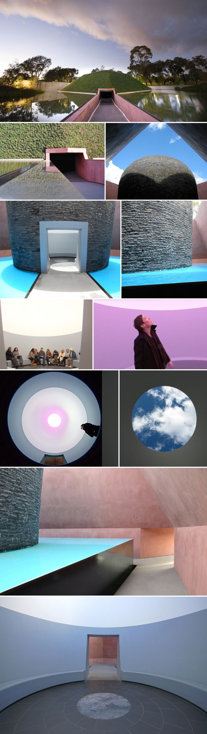 Turrell Skyspace, Light Installation, Art, National Gallery Australia
