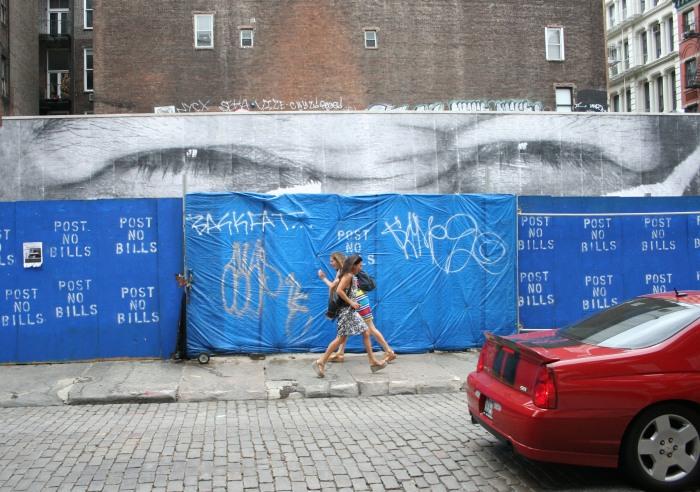 JR in NYC, Soho Street Art