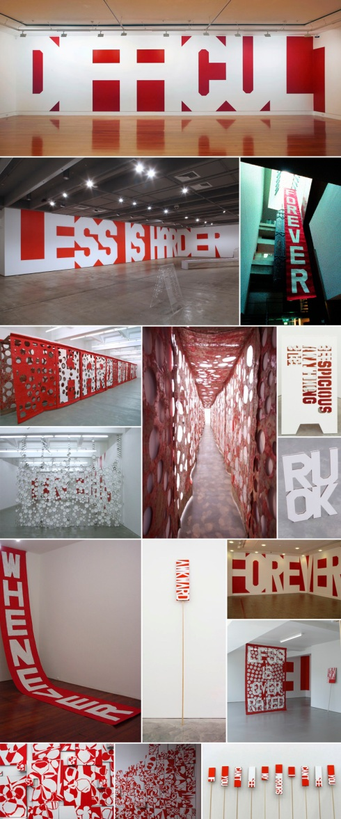 Typographic Art Installations