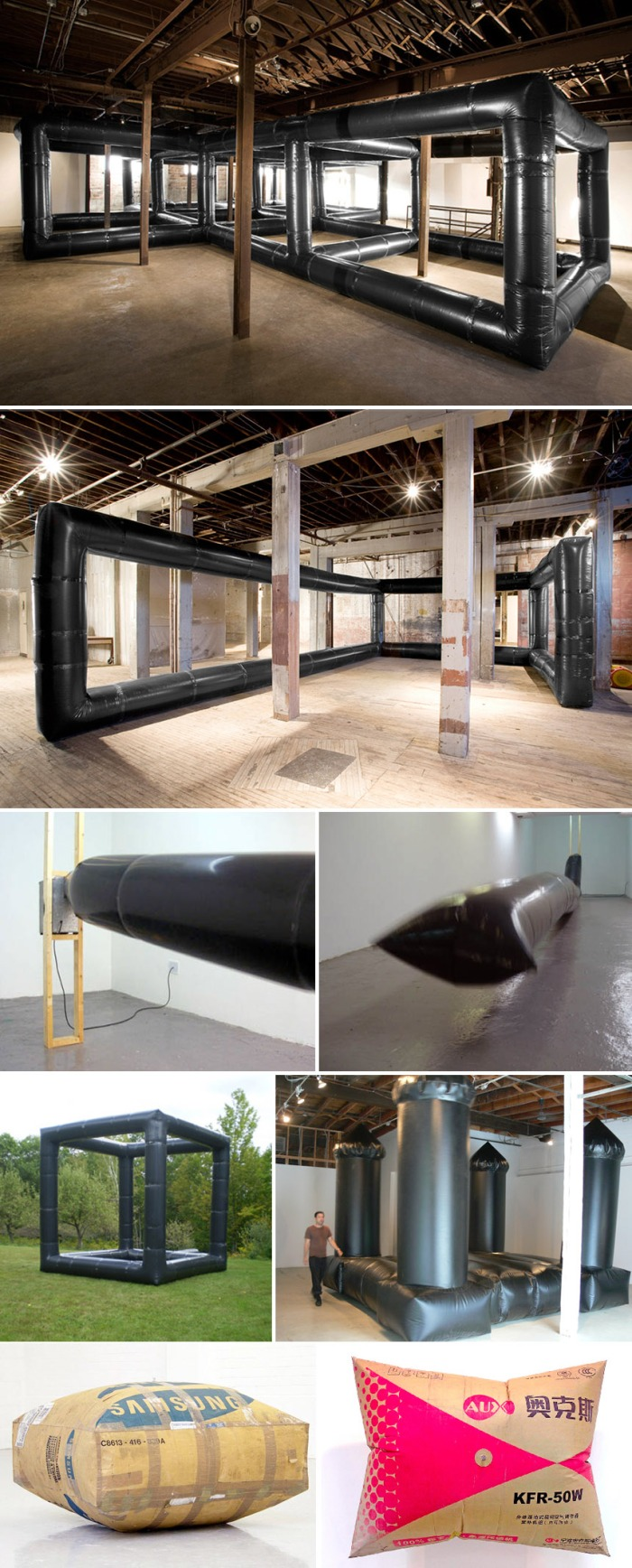inflatable art installation, contemporary art, collabcubed