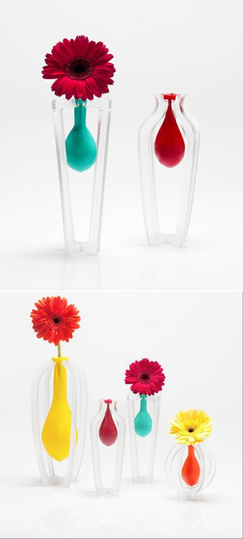 balloon vase, industrial design, fun vase, balloon design