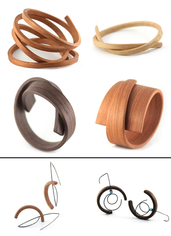 Contemporary wood jewelry-Reyes-collabcubed