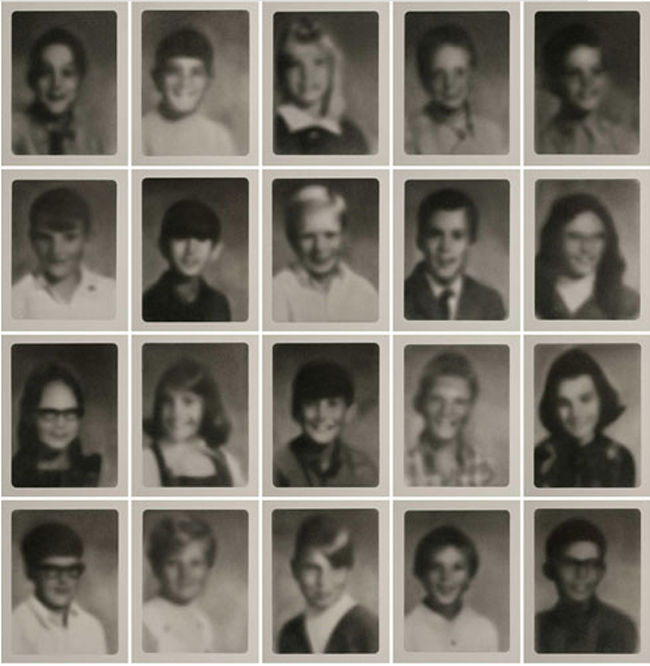 amazing pencil drawings, blurred yearbook photo drawings, Chiappe, VoltaNY