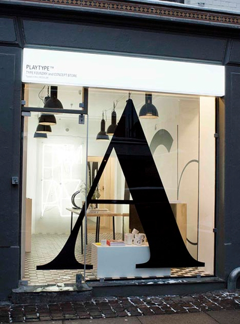 typography store, products with type, copenhagen, design store