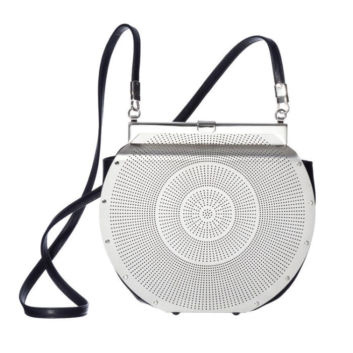 Stainless steel handbags, clutch, accessories, contemporary design
