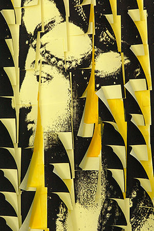 Post-it art, silk screen, pop art, Turkey