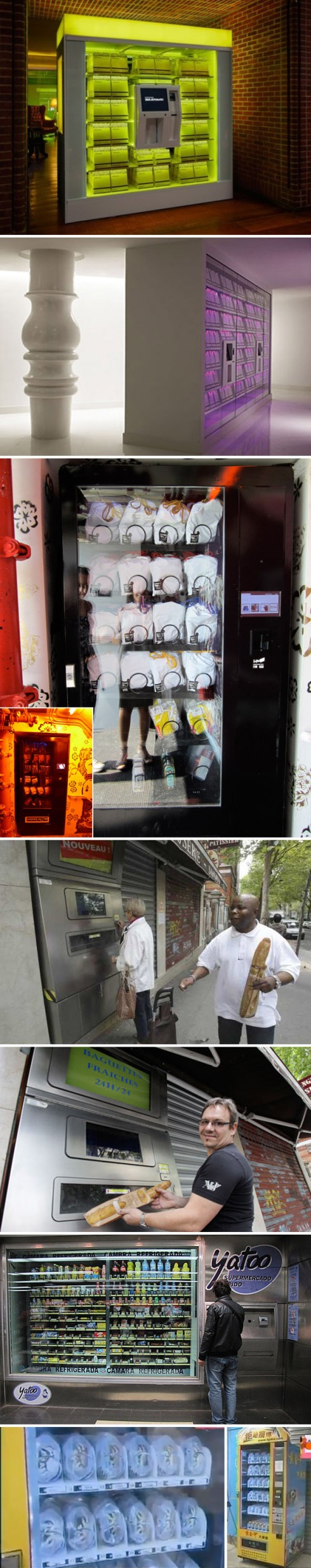 Cool Vending Machine, Fashion Week, Hudson Hotel, semi automatic, Mondrian, Baguettes