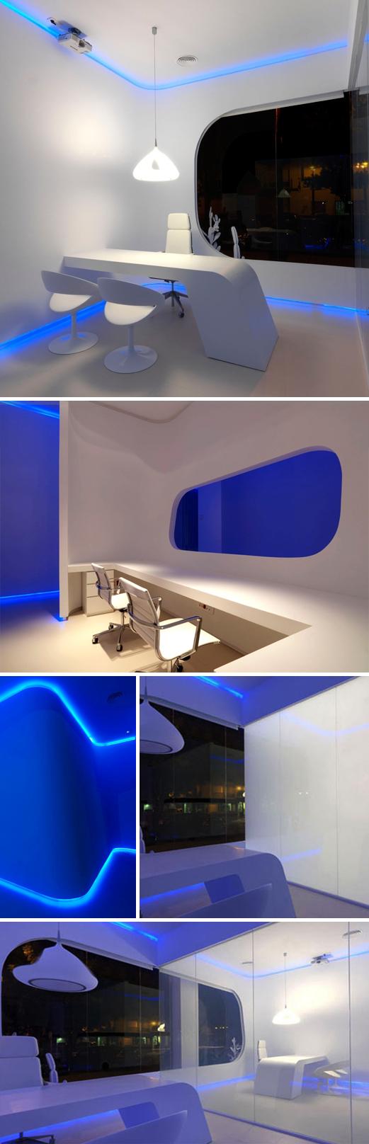 Hidrosalud Offices, Cub Arquitectura, interior design, cool office design, lighting