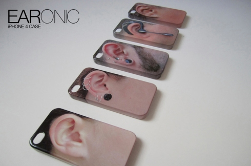 iPhone 4 Case, Ear, Fun gift, novelty, geeky phone cases, collabcubed, Daniela Gilsanz
