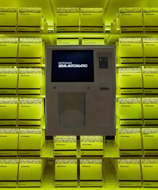 Cool Vending Machine, Fashion Week, Hudson Hotel, semi automatic, Morgans, NYC