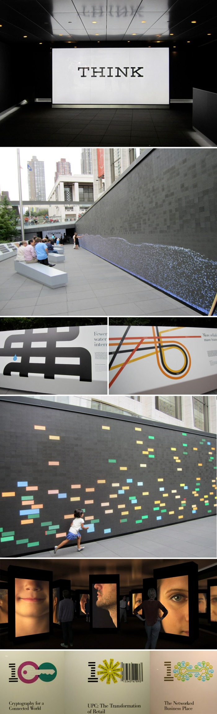 IBM Think, interactive screen, digital wall, IBM100, data visualization, collabcubed