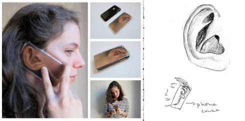 iPhone case, iphone 4, fun, gift, novelty, humorous, ear, Daniela Gilsanz