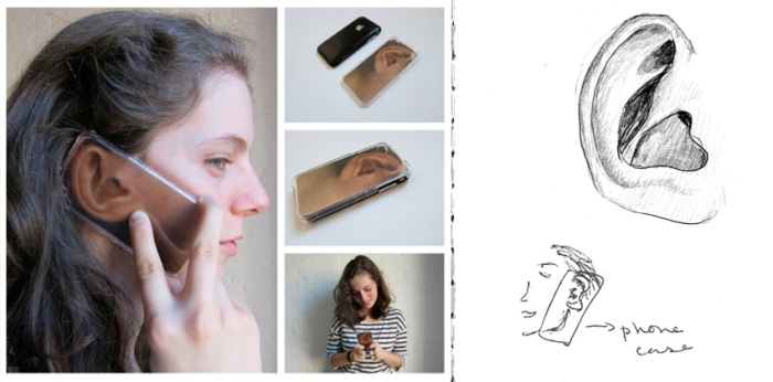 iPhone case, iphone 4, fun, gift, novelty, humorous, ear, Daniela Gilsanz