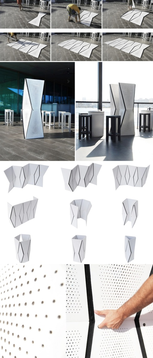 room dividers, partition, architectural, pleated, contemporary design