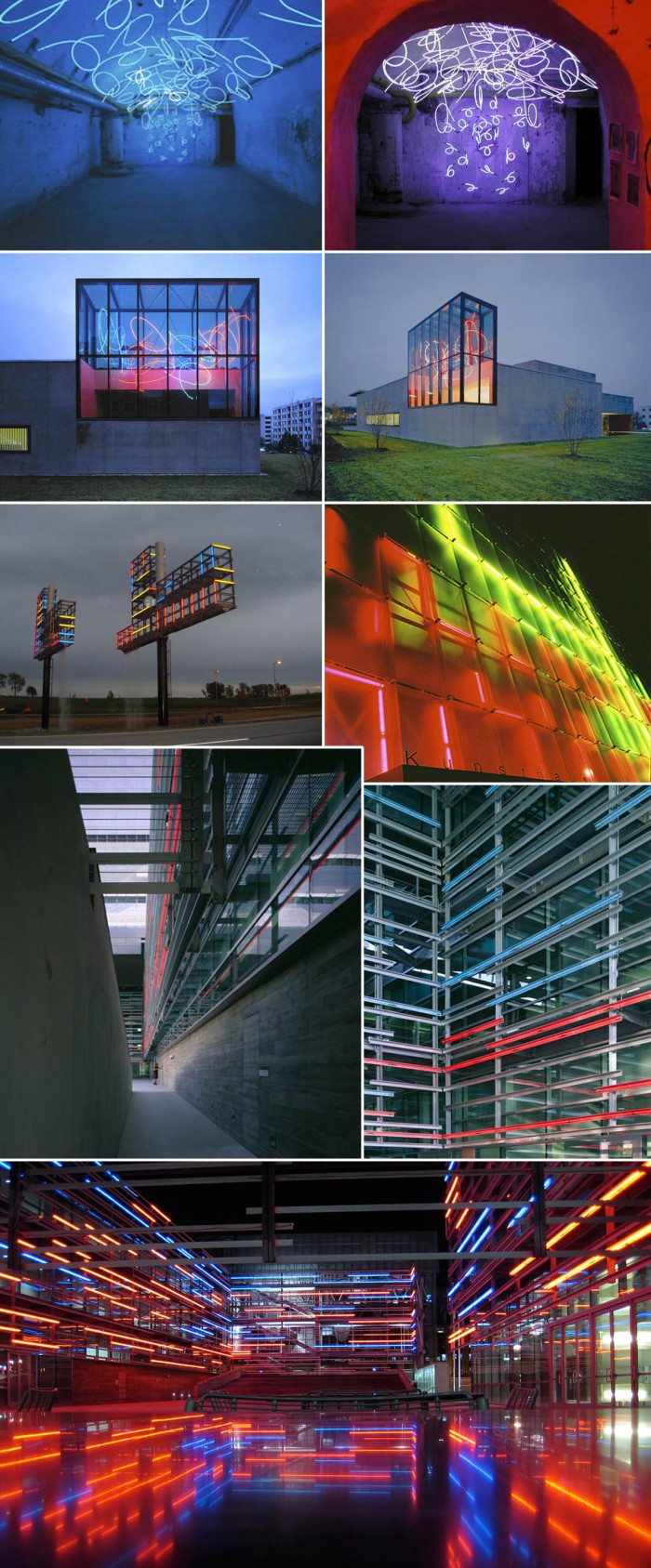 Light sculptures, installations, lumen, architecture, collabcubed