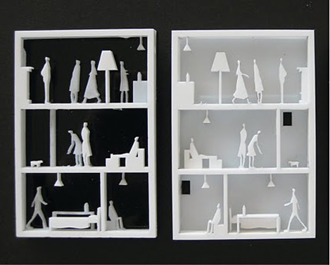 Perspex Brooches, Architecture jewelry, doll house, Australian design