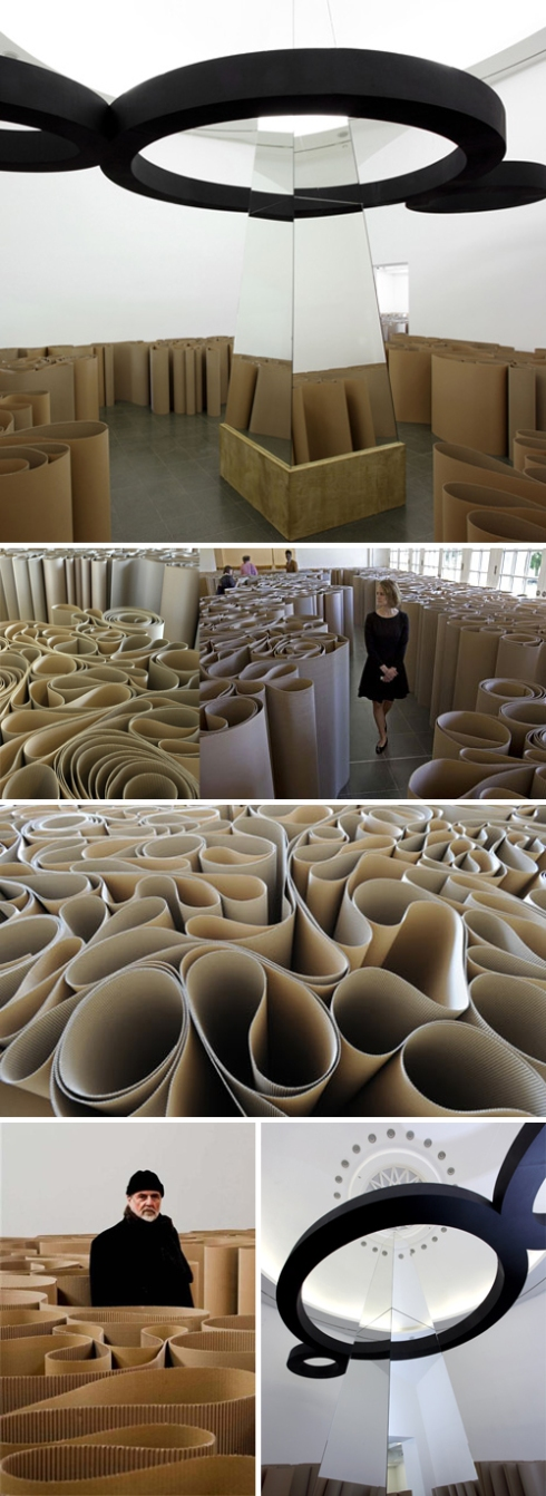 Installation, collabcubed, Contemporary Art, cardboard maze