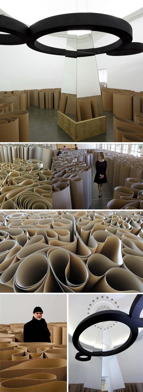 Installation, collabcubed, Contemporary Art, cardboard maze