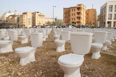 Sehanaoui, Lebanon, Beirut, art installation, toilets, war, order, contemporary art, collabcubed