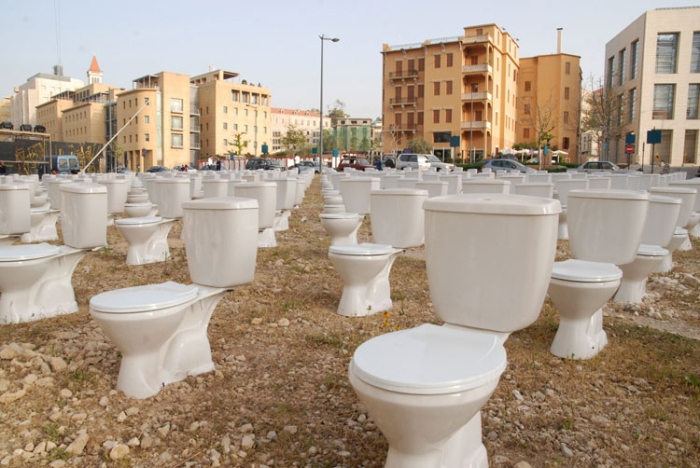Sehanaoui, Lebanon, Beirut, art installation, toilets, war, order, contemporary art, collabcubed