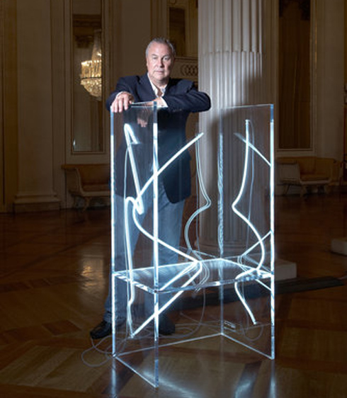 Bob Wilson, neon, Kartell, 7 Electric Chairs..As You Like It