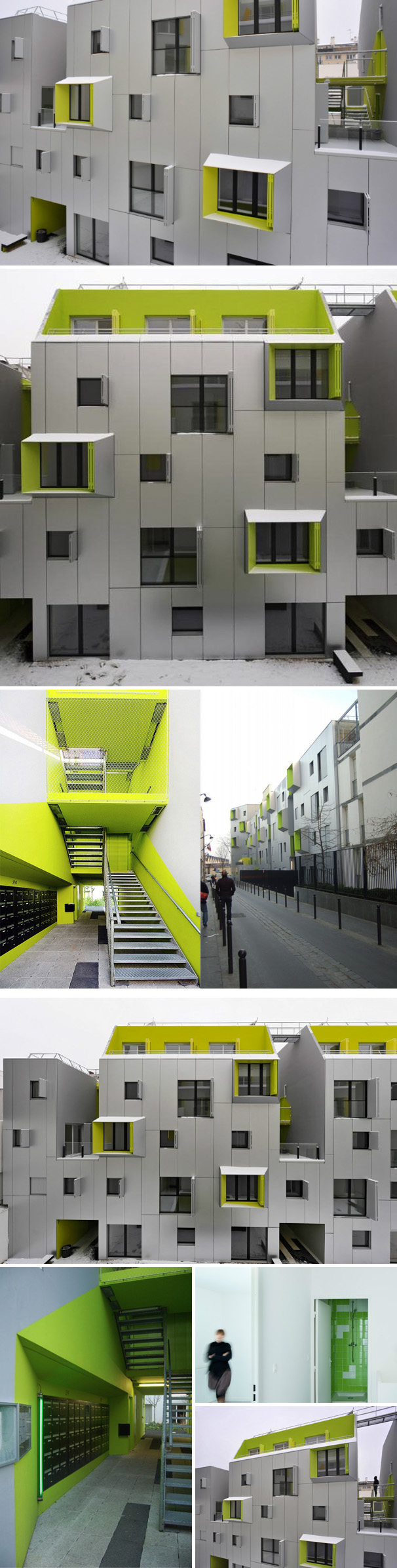 X-tu architects, social housing, Paris, modern architecture, collabcubed