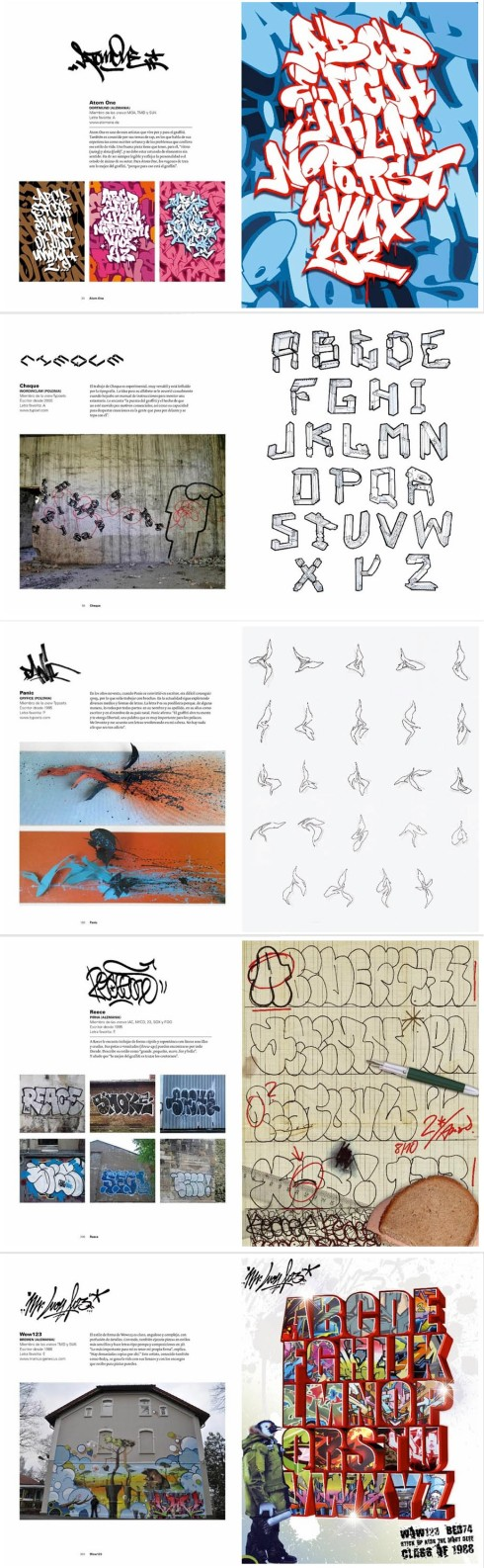 graffiti alphabet, type, street art, art book, collabcubed