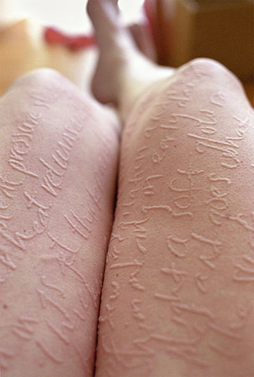 dermatographia, skin art, skin tattoos, Magnan Metz, photography, collabcubed