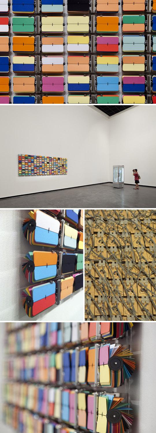 Art installation, Australian artist, flip-clocks, contemporary art