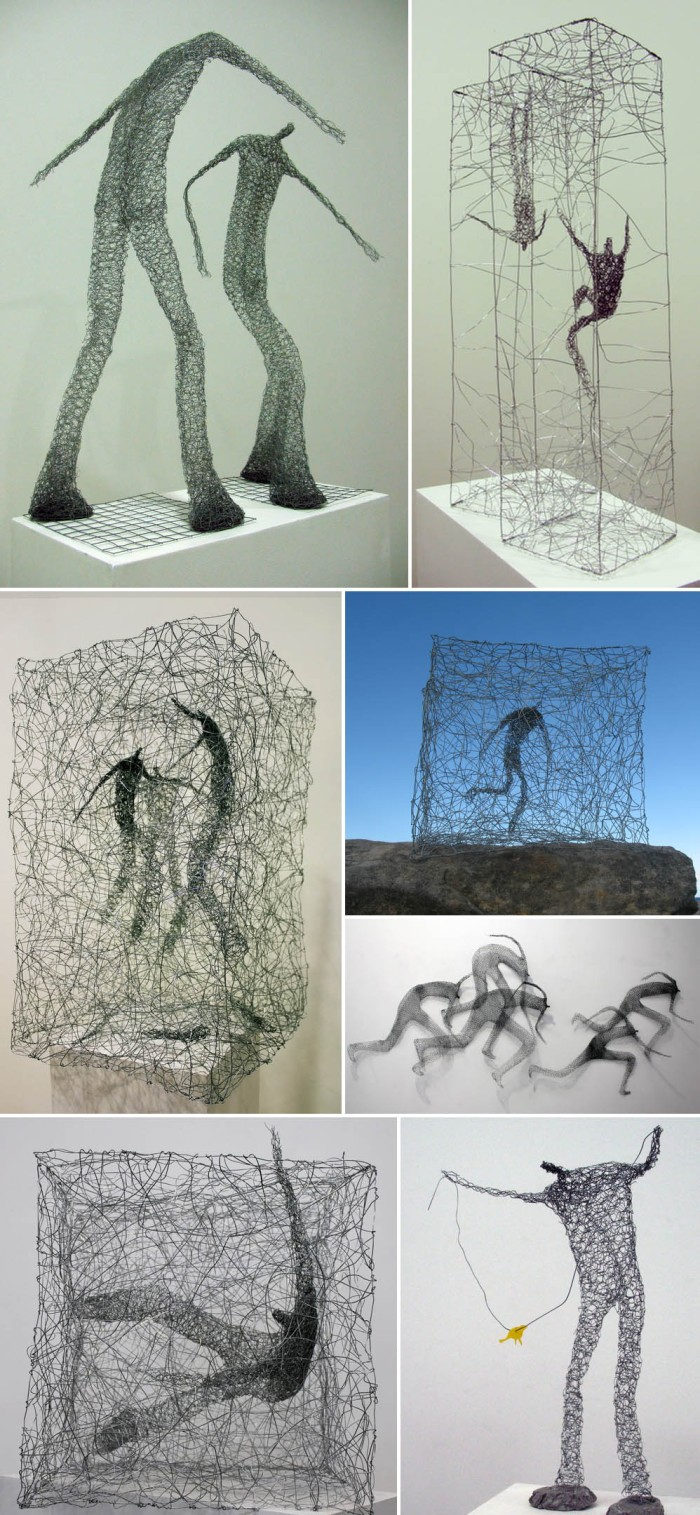 Wire figures, Australian artist, Licha, contemporary sculpture