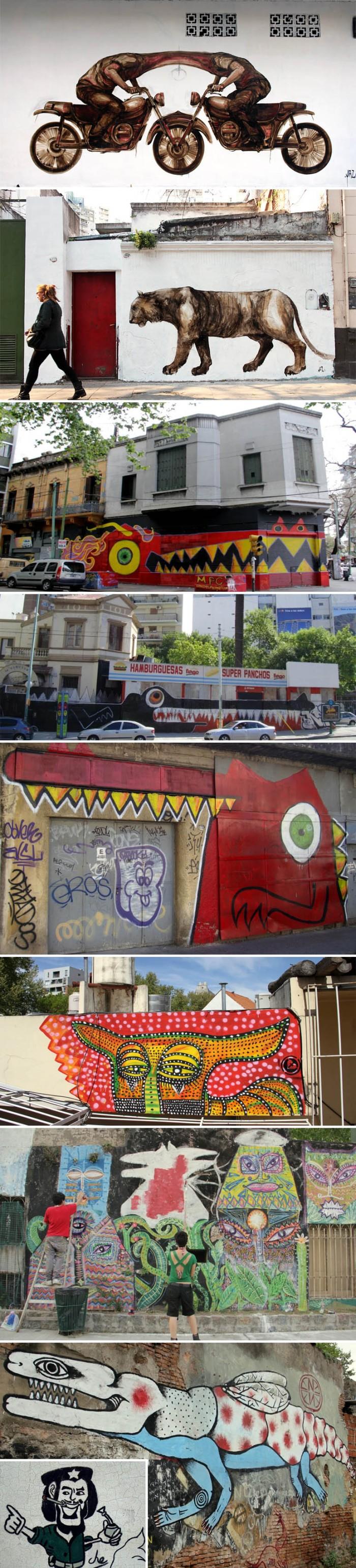 Street art, graffiti, Argentina, MPC, Jaz, Rodez, Malegria, Bixo, Ene Ene