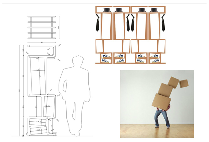 closet on wheels, armoire, ilmiodesign, industrial design, collabcubed