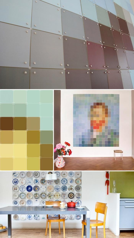 pixelated wall images, photo wall, modular photo system, ixxi