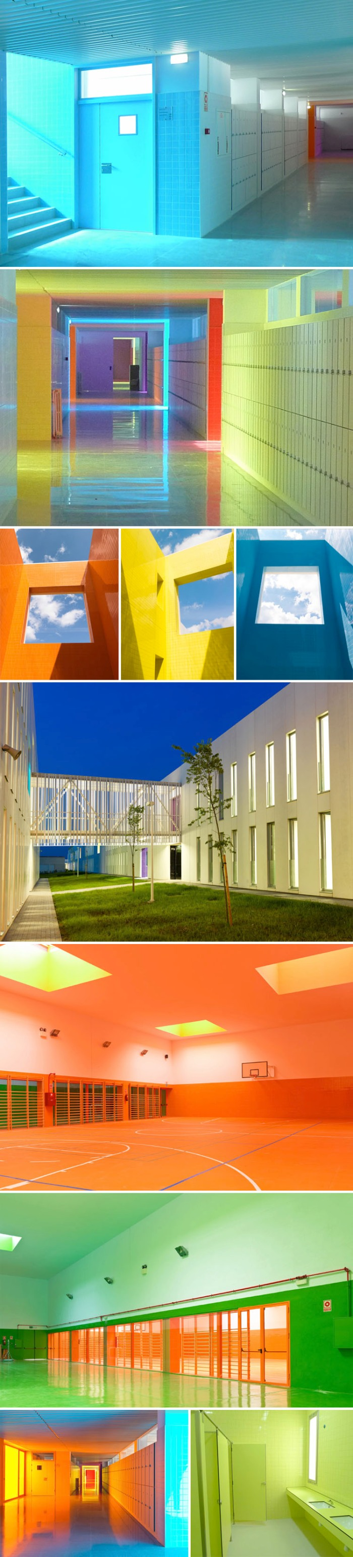 Colorful architecture, Spain, Ramon Esteve, School Design