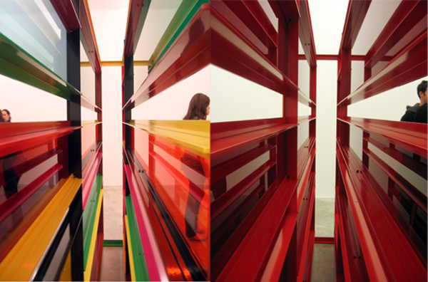 color art installation, contemporary art, typography