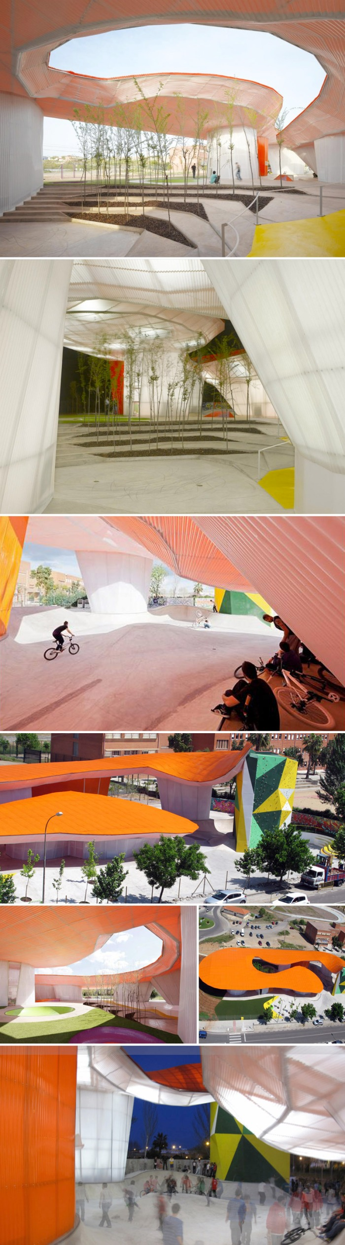 Mérida, Youth Center, skateboarding, rock climbing, Spain, contemporary architecture
