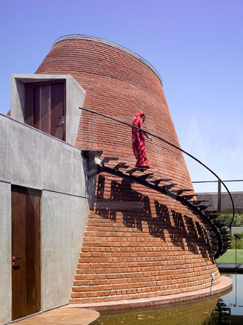 Drum House, Ahmedebad, India, Anekit Bhagwat, Bricks, collabcubed