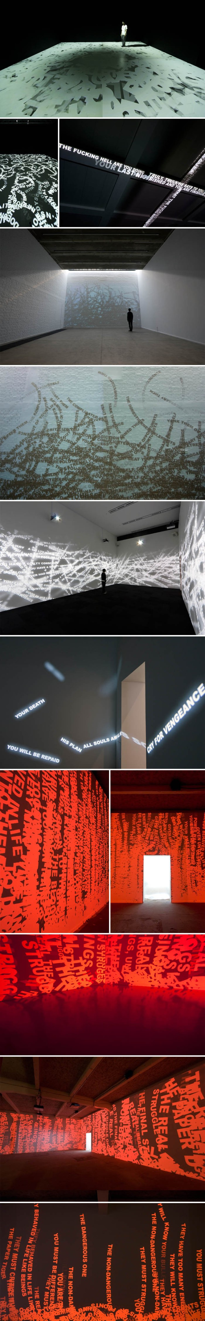 Dynamic projected type installations, Mori Art Museum