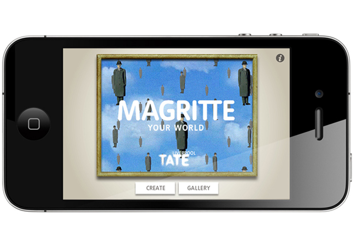 Magritte Your World, App, fun gadget, video app, Tate